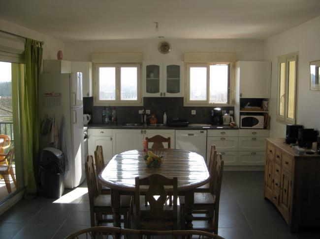 salle a manger cuisine location villa saint alban